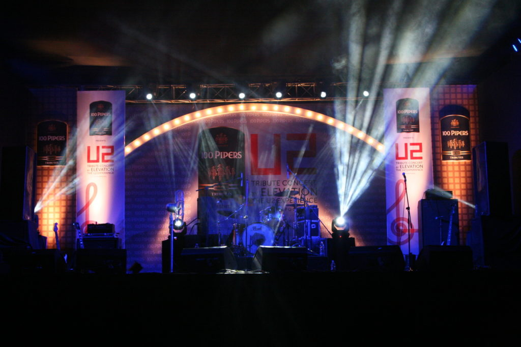 Elevation play the U2 theme stage in India